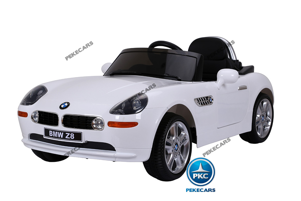 Coche eléctrico para niños BMW Z8 12V Blanco vista principal