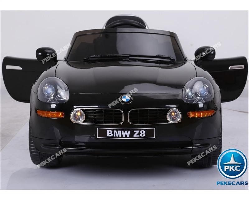 Coche eléctrico infantil BMW Z8 12V Negro vista frontal
