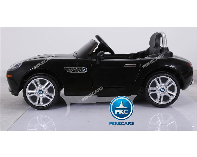 Coche eléctrico para niños BMW Z8 12V Negro vista lateral