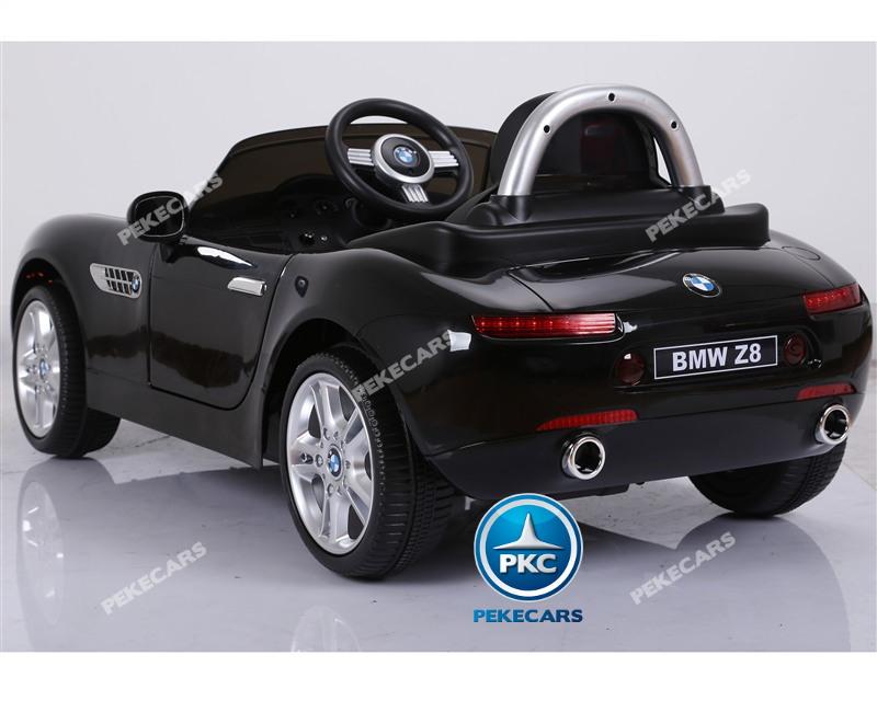 Coche eléctrico infantil BMW Z8 12V Negro con apertura de puertas