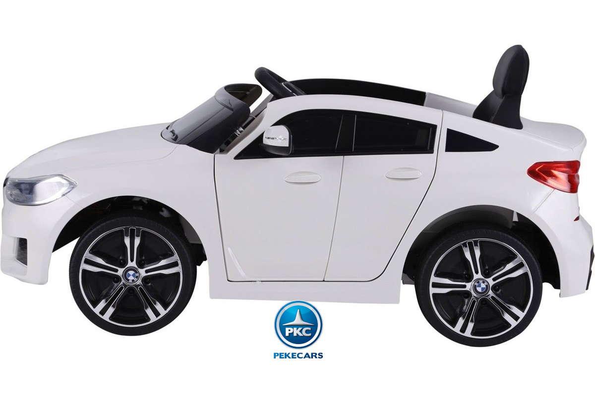 Coche electrico infantil BMW 6 GT 12V Blanco lateral
