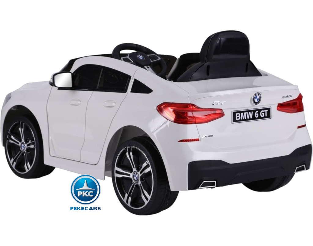 Coche electrico para niños BMW 6 GT 12V Blanco