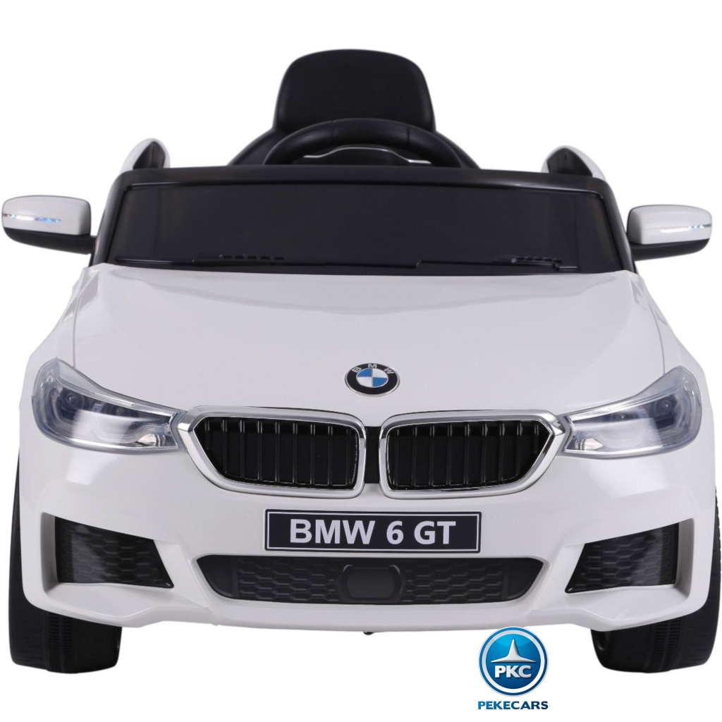 Coche electrico para niños BMW 6 GT 12V Blanco frontal