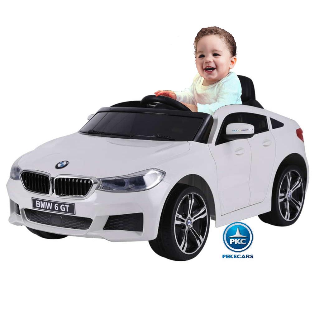 Coche electrico para niños BMW 6 GT 12V Blanco vista principal