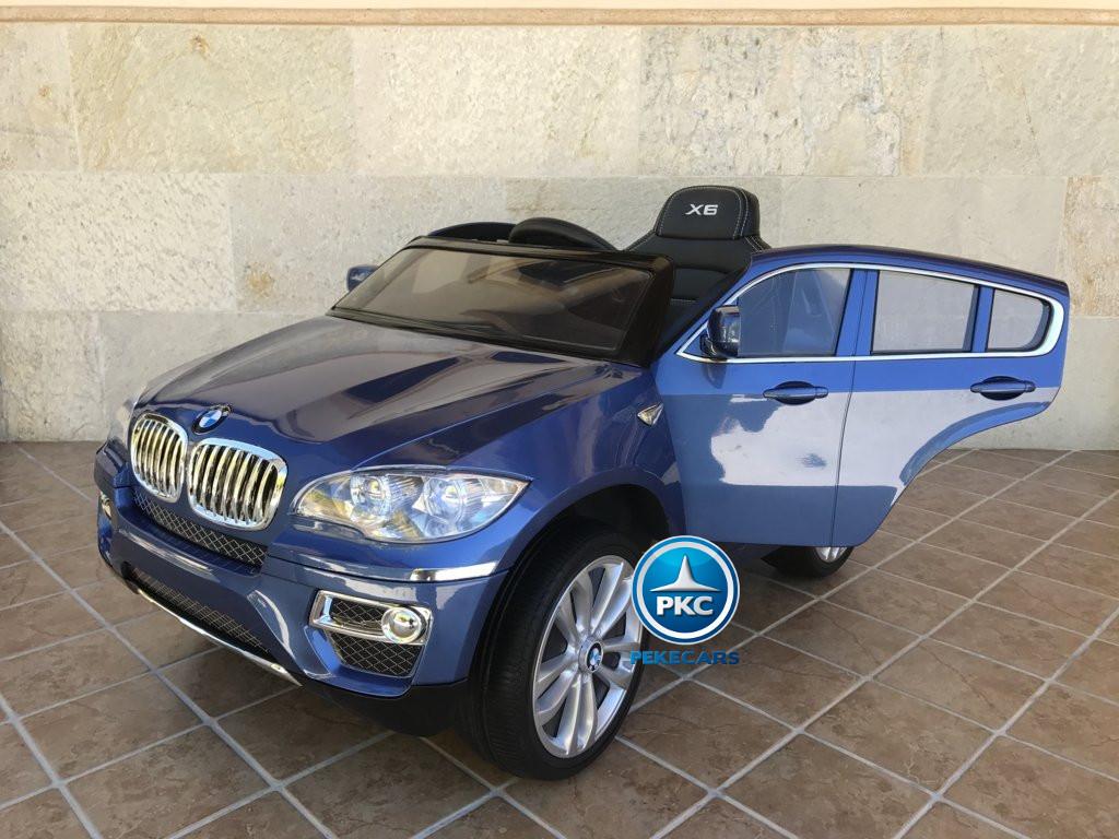 Coche electrico para niños BMW X6 Azul Metalizado vista principal
