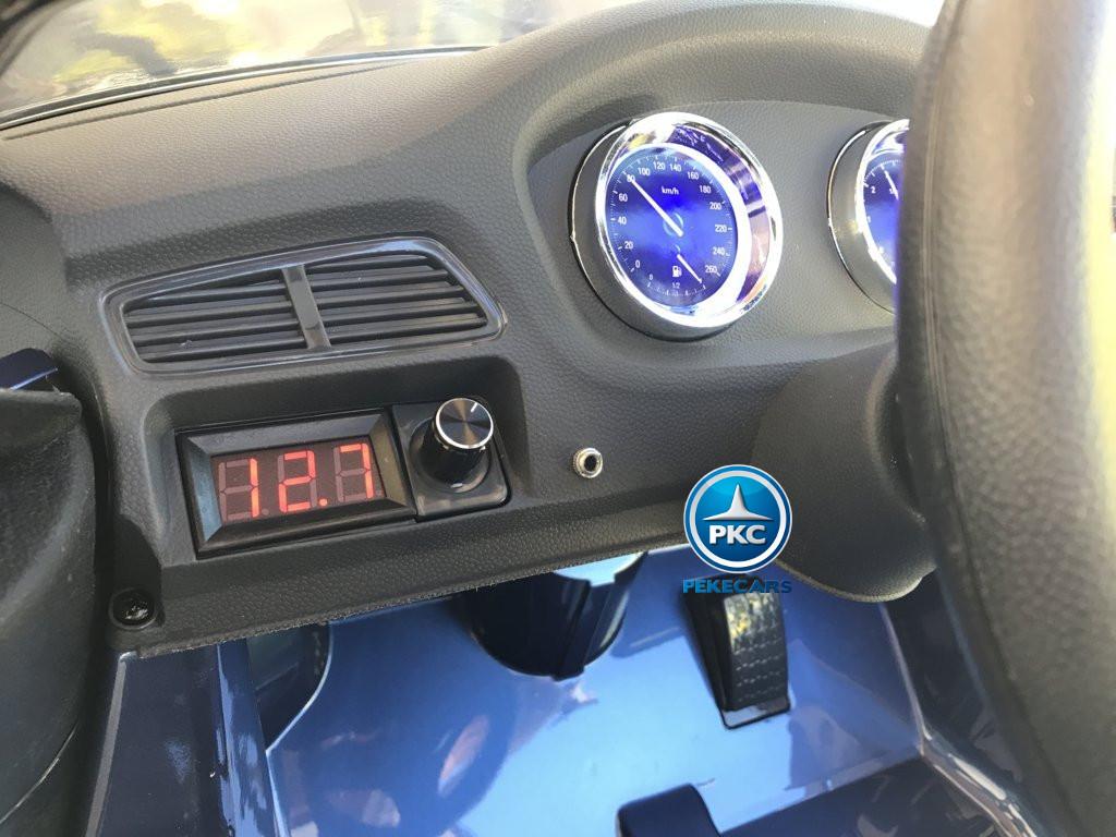 Coche electrico infantil BMW X6 Azul Metalizado con voltimetro digital