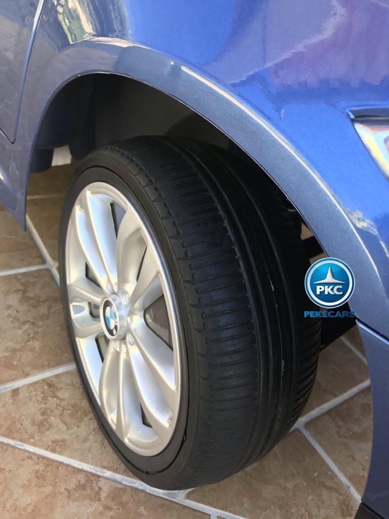 Coche electrico infantil BMW X6 Azul Metalizado con ruedas de caucho antipinchazos