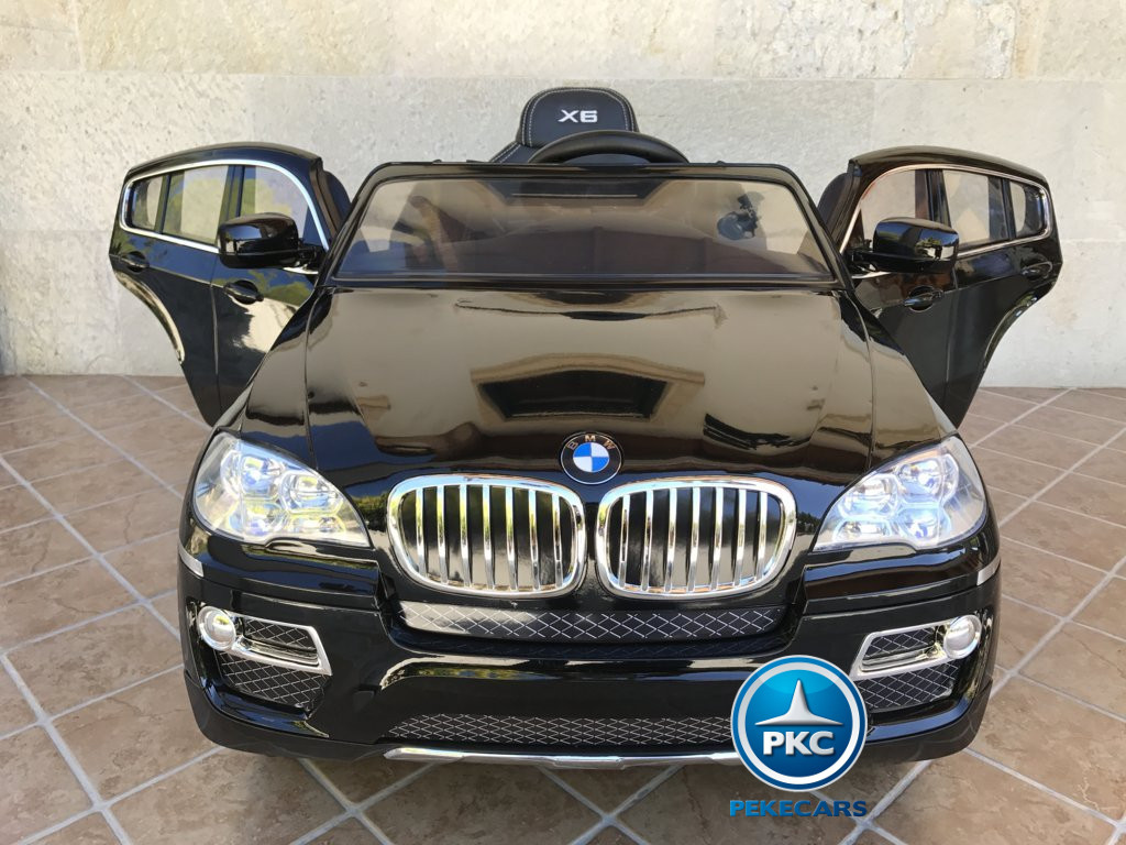 Coche electrico infantil BMW X6 Negro Metalizado vista frontal