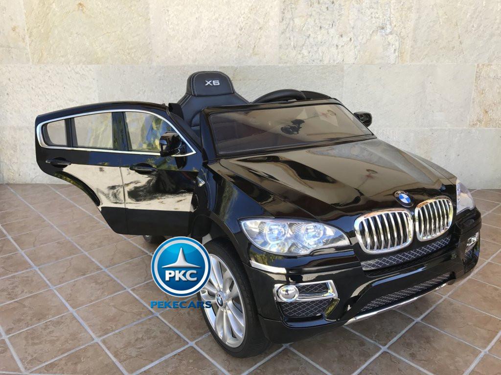 Coche electrico para niños BMW X6 Negro Metalizado con apertura de puertas