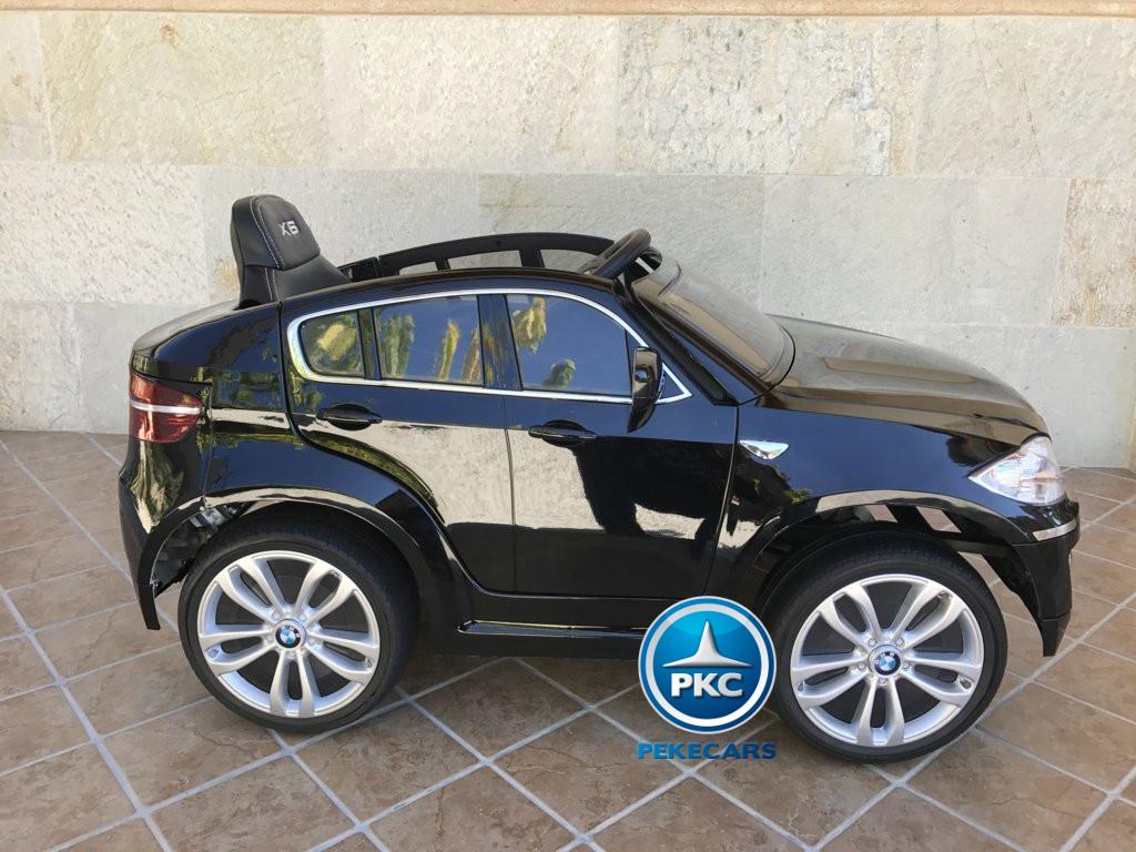 Coche electrico infantil BMW X6 Negro Metalizado vista lateral