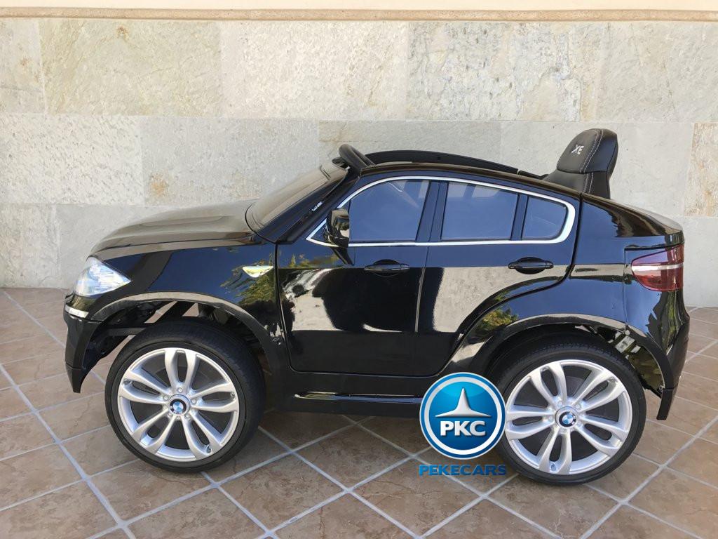 Coche electrico para niños BMW X6 Negro Metalizado con conexion MP3