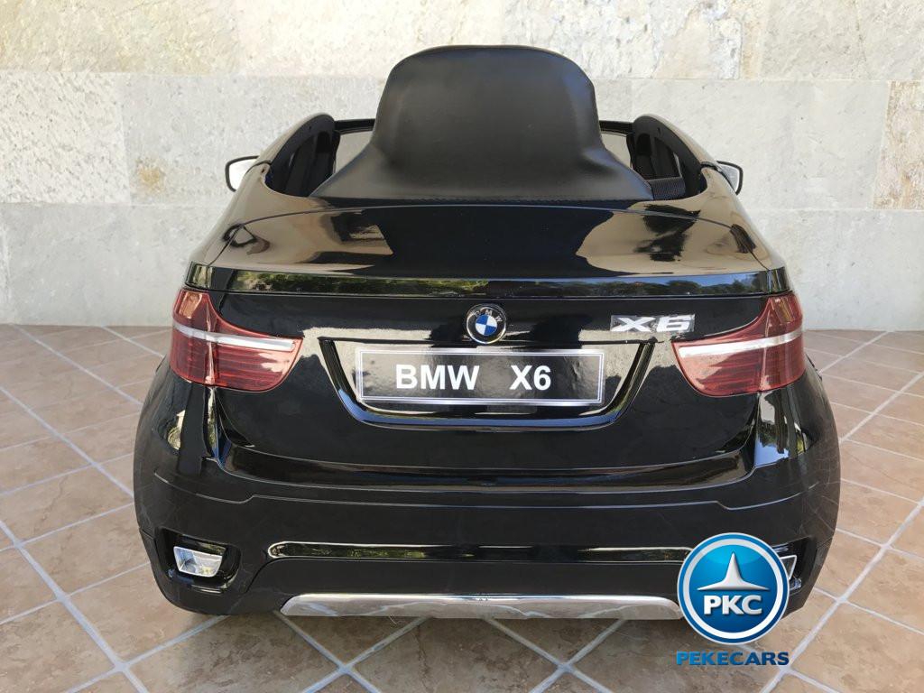 Coche electrico infantil BMW X6 Negro Metalizado vista trasera