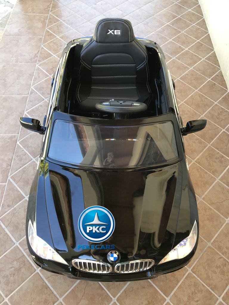 Coche electrico para niños BMW X6 Negro Metalizado visto desde arriba