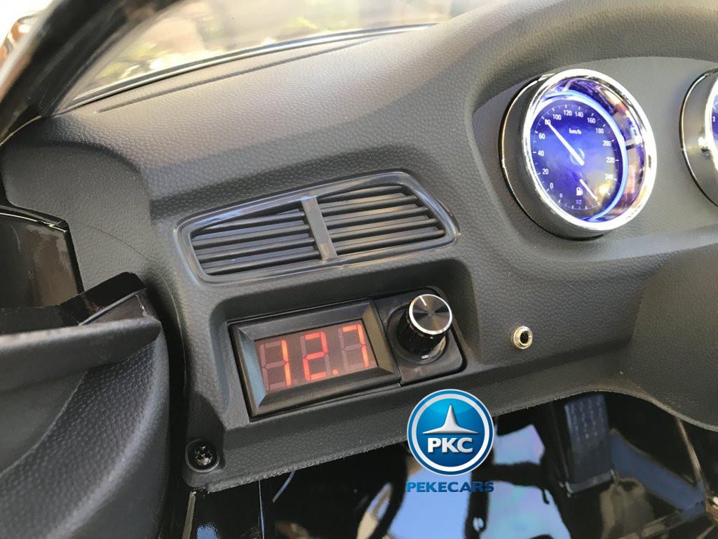 Coche electrico infantil BMW X6 Negro Metalizado con voltimetro digital