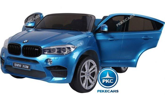 Coche electrico para niños BMW X6 2 plazas Azul Metalizado vista principal