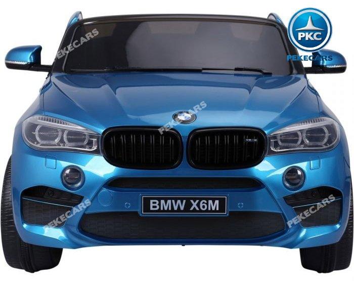 Coche electrico para niños BMW X6 2 plazas Azul Metalizado vista frontal