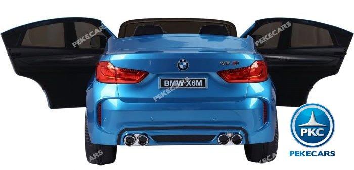 Coche electrico para niños BMW X6 2 plazas Azul Metalizado con apertura de puertas