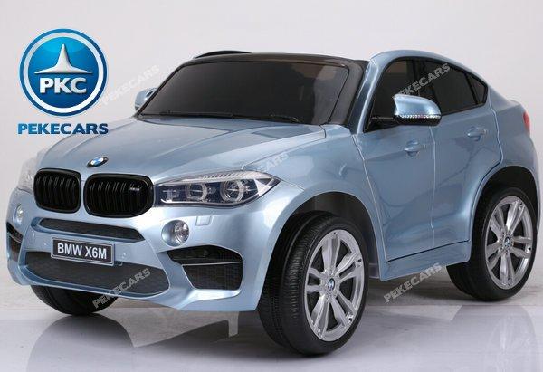 Coche electrico para niños BMW X6 2 plazas Plata Metalizado vista principal