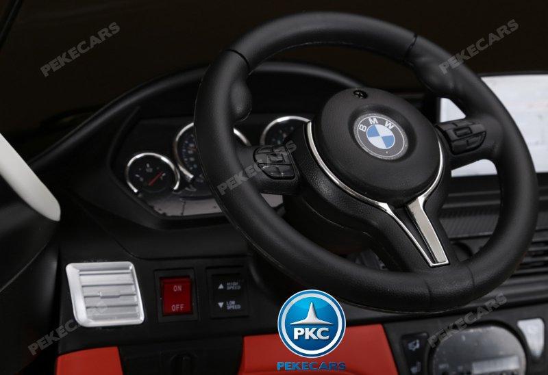 Coche electrico infantil BMW X6 2 plazas Plata Metalizado con luces LED