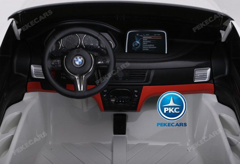 Coche electrico para niños BMW X6 2 plazas Plata Metalizado vista frontal