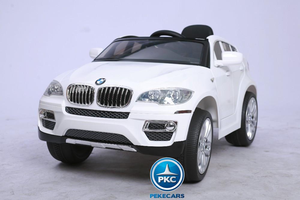 Coche electrico para niños BMW X6 Blanco vista principal
