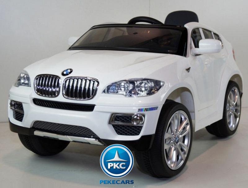Coche electrico para niños BMW X6 Blanco con conexion MP3