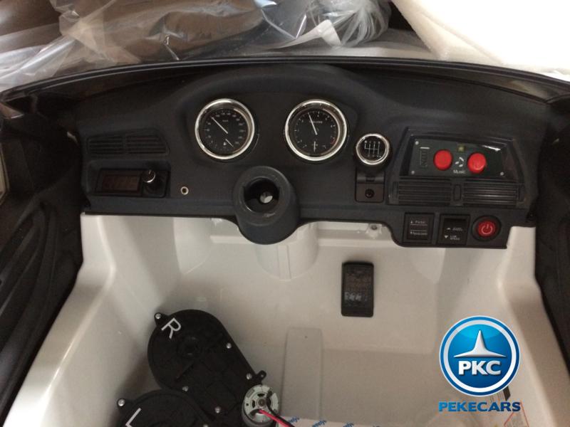 Coche electrico infantil BMW X6 Blanco volante con sonidos