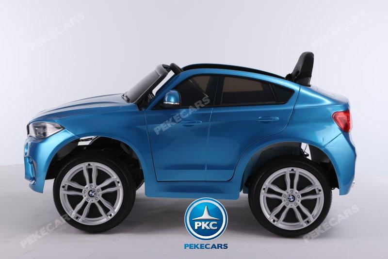 Coche electrico infantil BMW X6M Azul Metalizado vista lateral