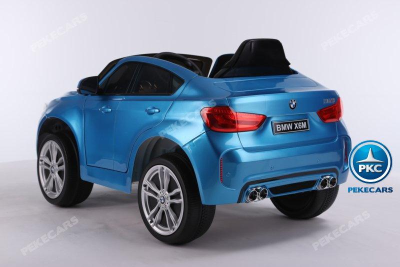 Coche electrico para niños BMW X6M Azul Metalizado luces traseras