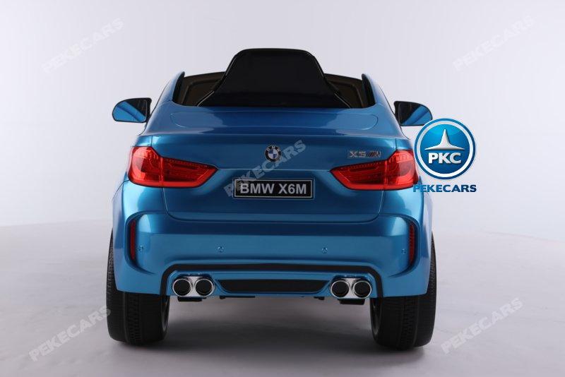 Coche electrico infantil BMW X6M Azul Metalizado vista trasera