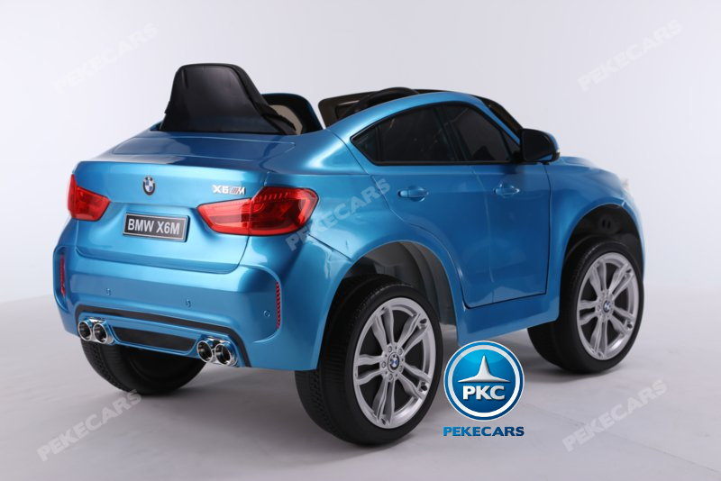 Coche electrico para niños BMW X6M Azul Metalizado