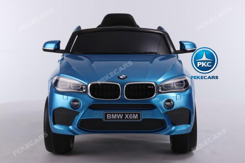 Coche electrico infantil BMW X6M Azul Metalizado vista frontal