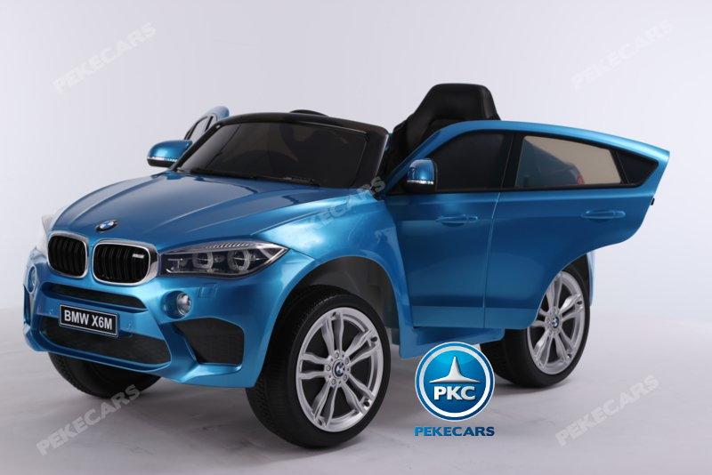 Coche electrico para niños BMW X6M Azul Metalizado con apertura de puertas