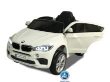 Coche electrico para niños BMW X6M Blanco vista principal