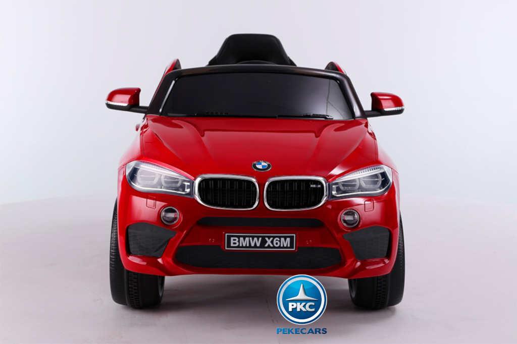 Coche electrico infantil BMW X6M Rojo frontal