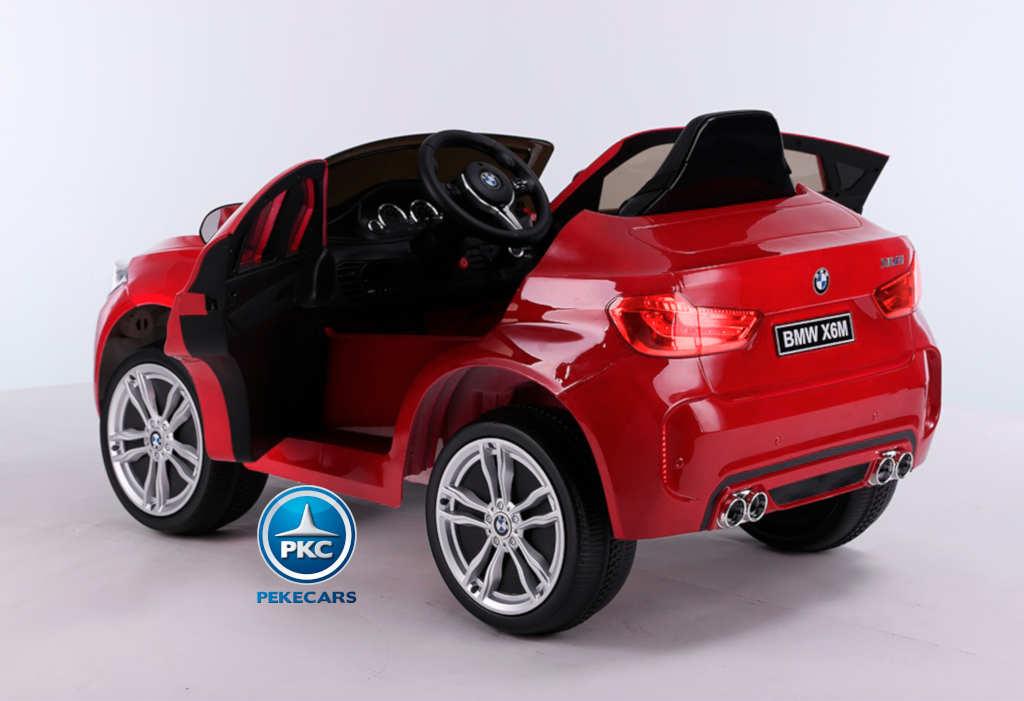 Coche electrico para niños BMW X6M Rojo con apertura de puertas
