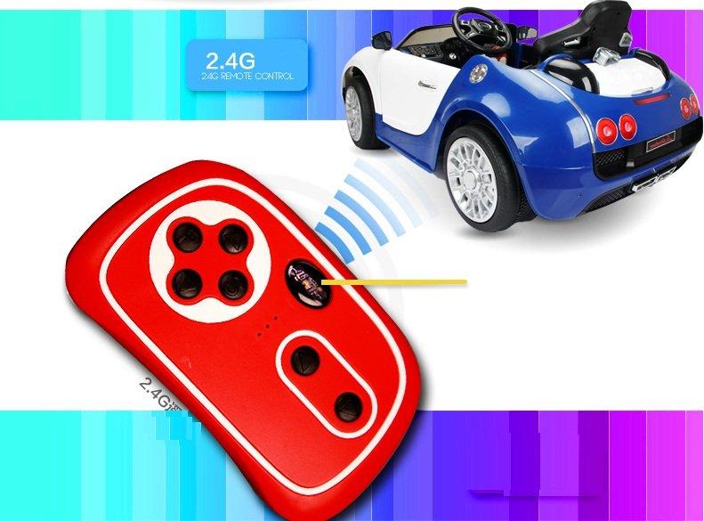 Coche electrico para niños Bugatti Veyron Style Azul con mando radiocontrol 2.4G