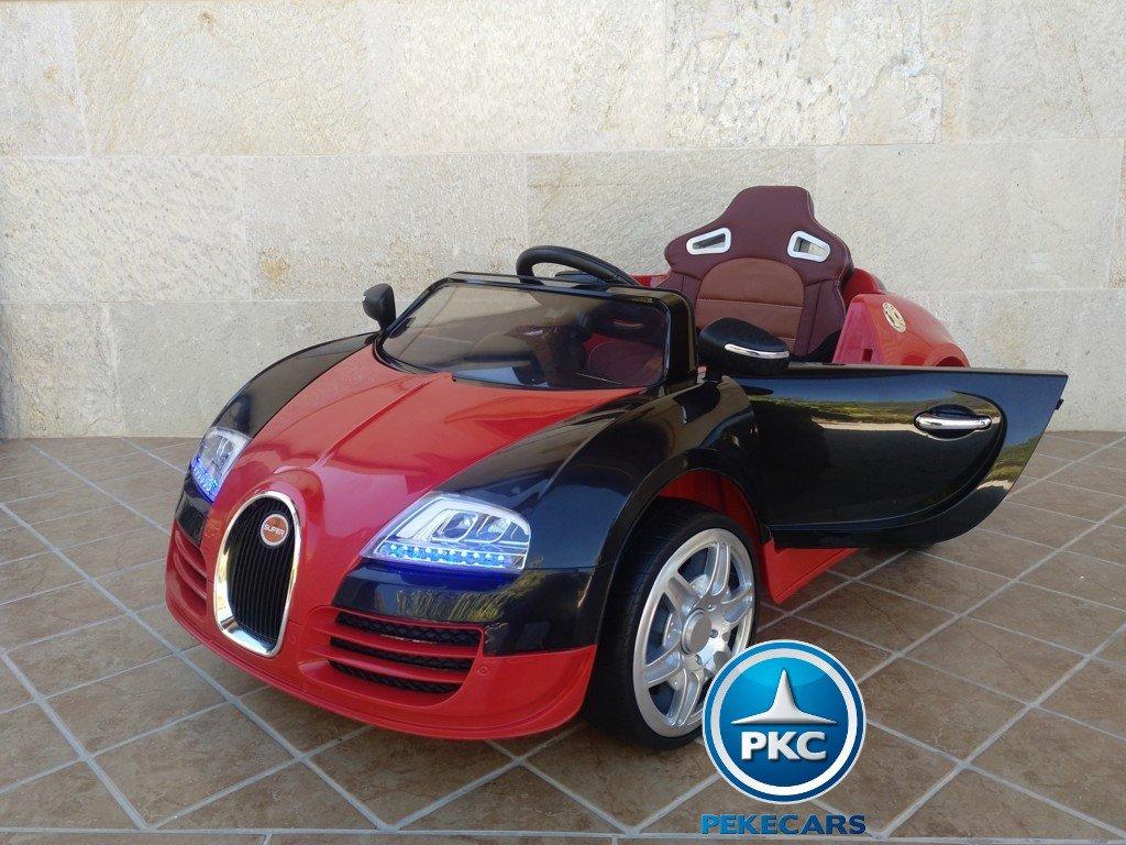 Coche electrico para niños Bugatti Veyron Style Rojo vista principal