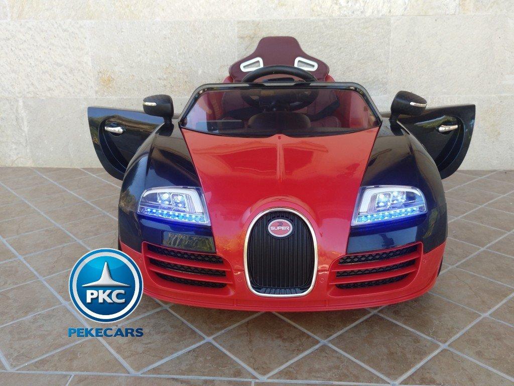 Coche electrico Infantil Bugatti Veyron Style Rojo vista frontal