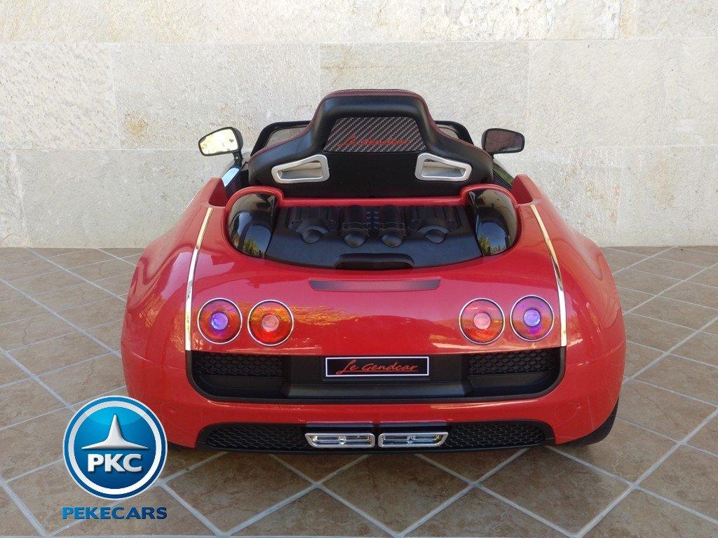 Coche electrico Infantil Bugatti Veyron Style Rojo vista trasera