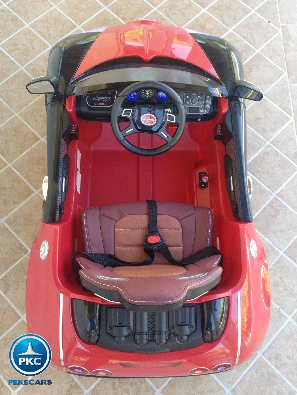 Coche electrico para niños Bugatti Veyron Style Rojo detalles del interior