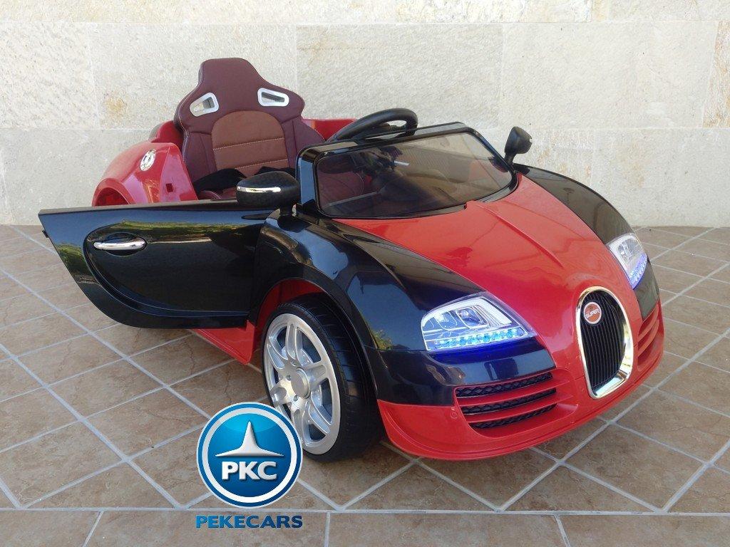 Coche electrico para niños Bugatti Veyron Style Rojo con apertura de puertas