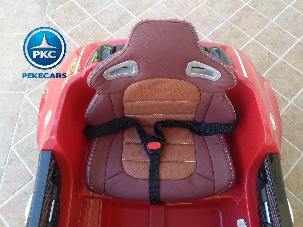 Coche electrico Infantil Bugatti Veyron Style Rojo con asiento acolchado