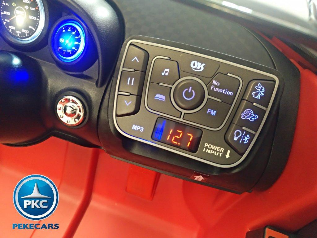 Coche electrico para niños Bugatti Veyron Style Rojo nuevo dashboard con radio FM