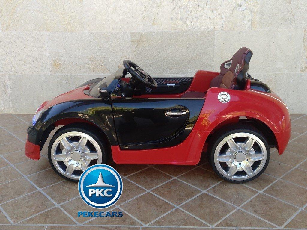 Coche electrico para niños Bugatti Veyron Style Rojo