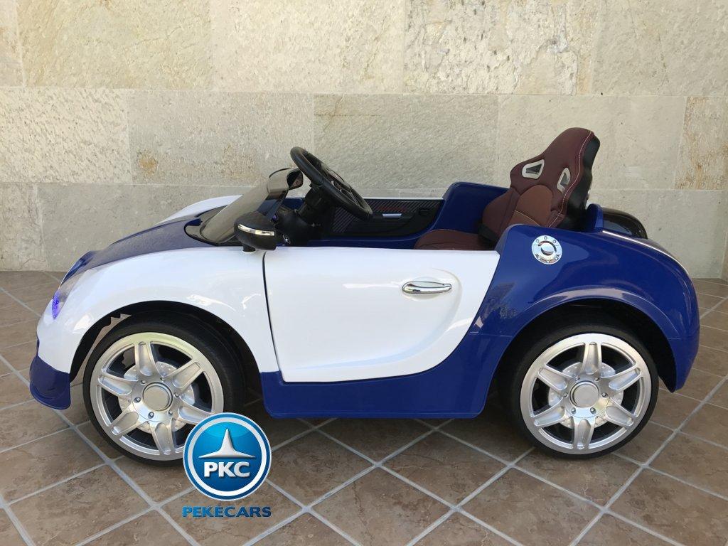 Coche electrico Infantil Bugatti Veyron Style Azul vista lateral