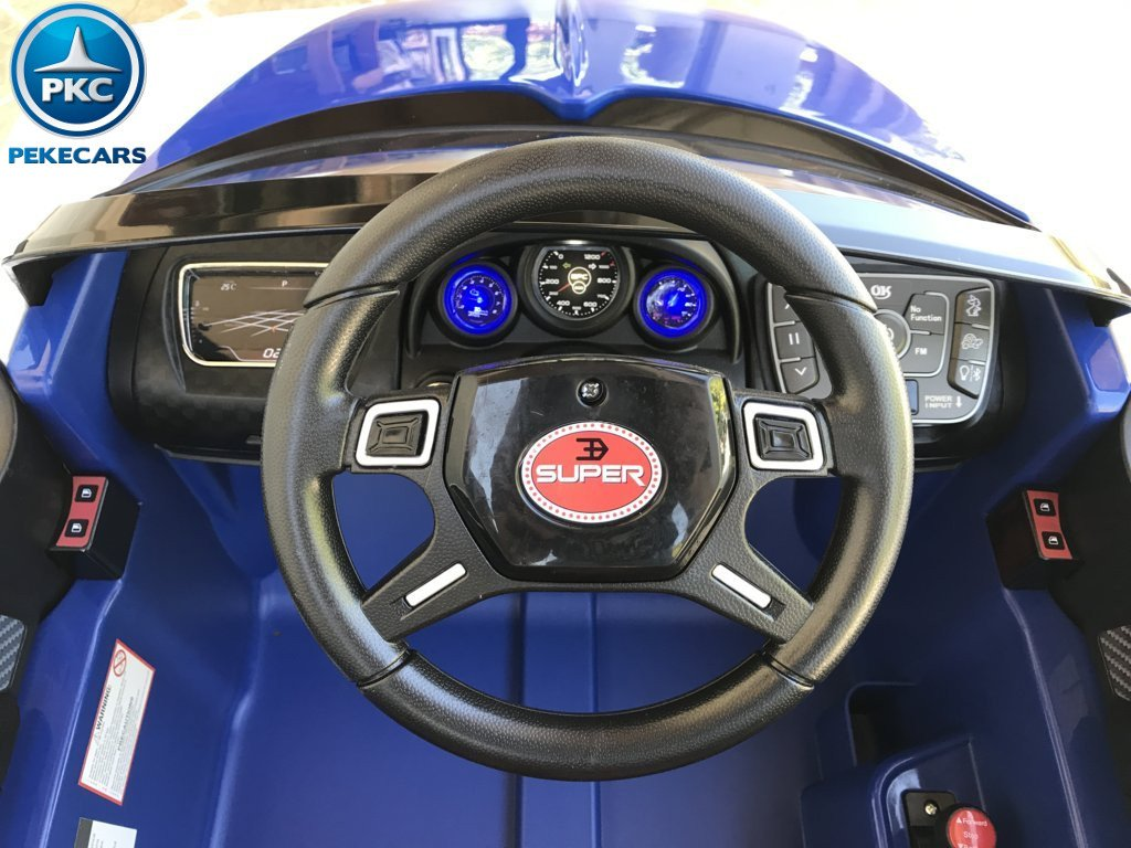 Coche electrico Infantil Bugatti Veyron Style Azul volante con musica y claxon