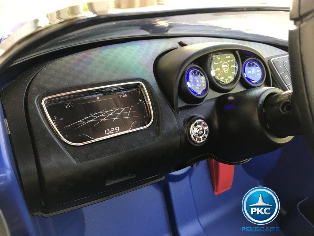 Coche electrico Infantil Bugatti Veyron Style Azul salpicadero iluminado
