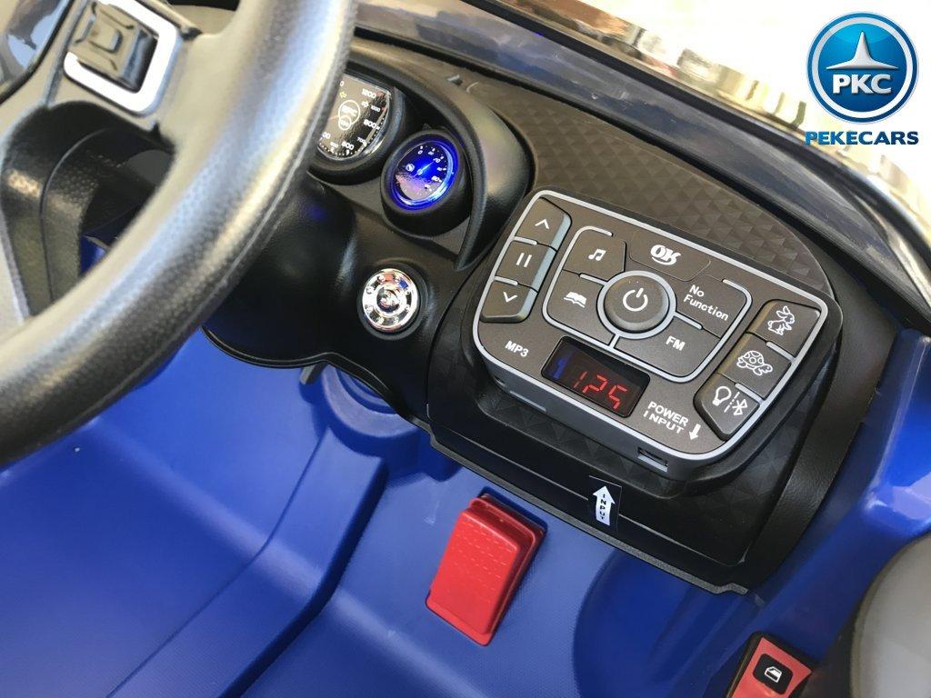 Coche electrico para niños Bugatti Veyron Style Azul nuevo dashboard con radio FM