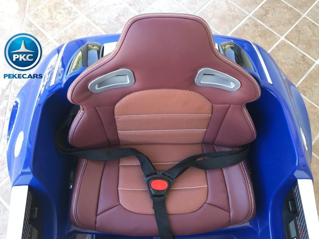 Coche electrico Infantil Bugatti Veyron Style Azul con cinturon de seguridad